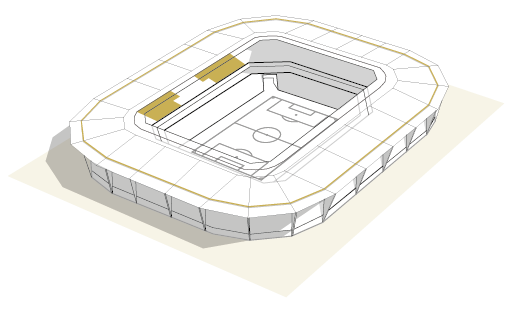 Render of the stadium